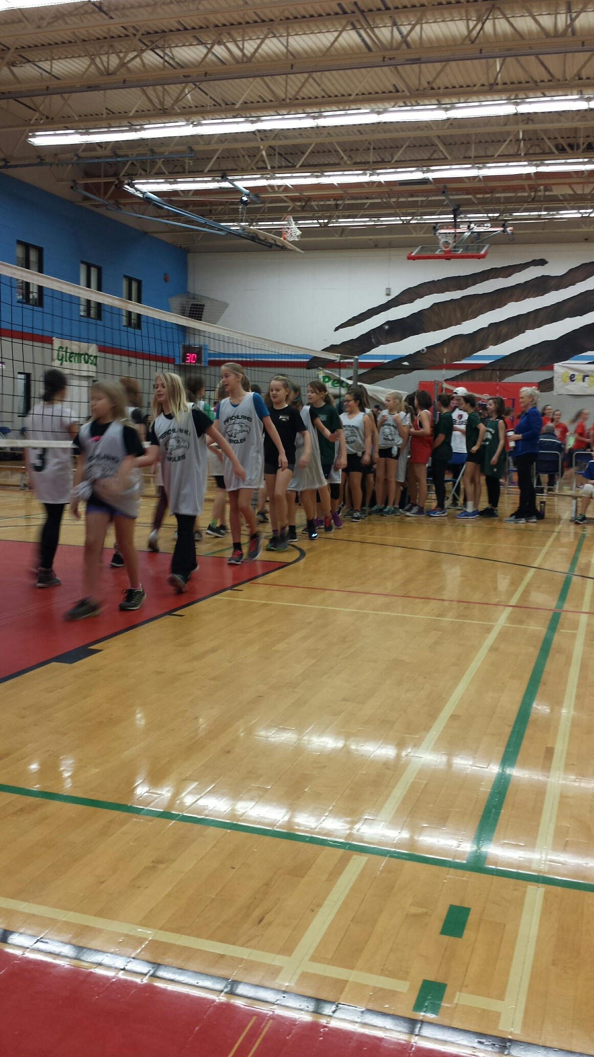 A Great Day at MBSS for our Girls Volleyball Team